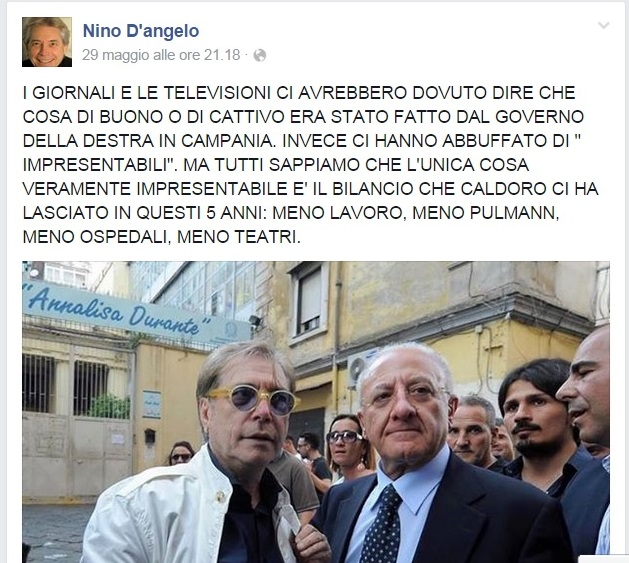 Nino D'Angelo, evergreen campano con acume politico